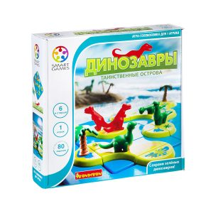 """Настольной игра-головоломка """"Динозавры. Таинственные острова"""", Bondibon"""