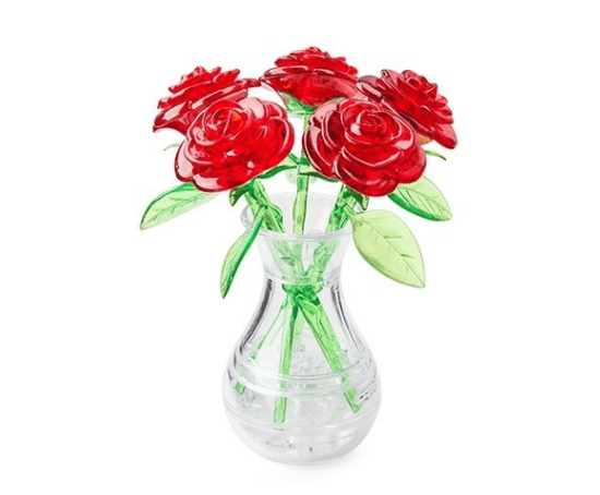 3D головоломка Букет в вазе красный