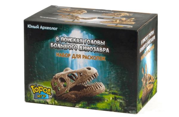 Юный Археолог. Раскопки. Голова большого динозавра