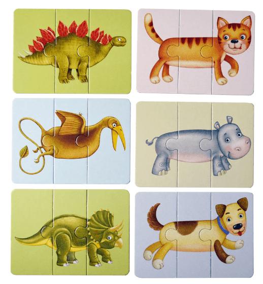 Асборн - карточки. Зоо и Динопутаница.