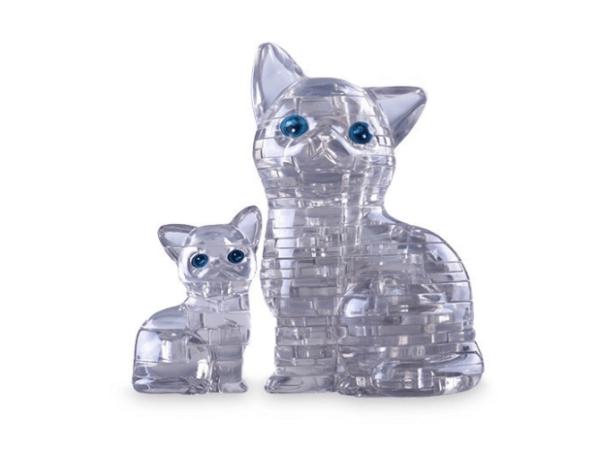 3D головоломка Кошка Серебристая