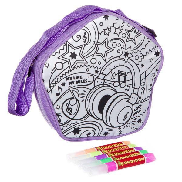 "Сумочка для раскрашивания с 3D красками ""Диско"" BONDIBON"
