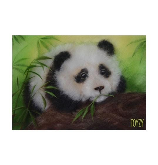 Набор картина шерстью «Панда», TOYZY