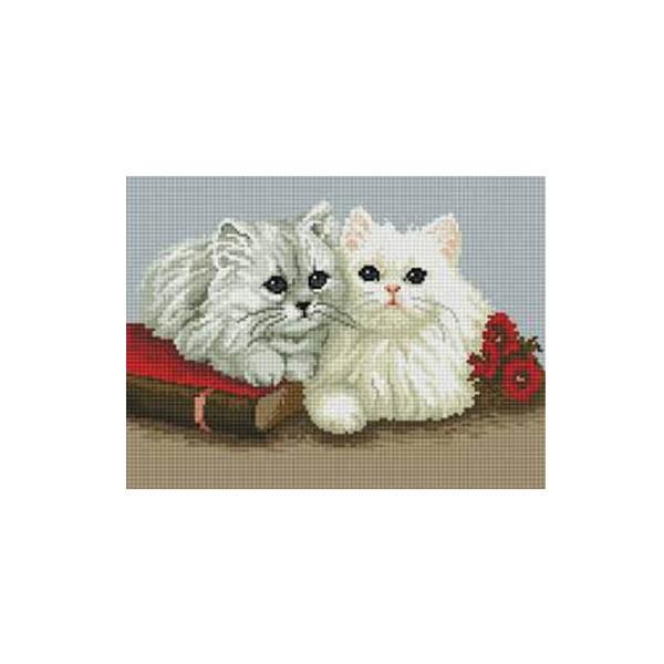 "Алмазная мозаика ""Пара котят"", 30x40 см"