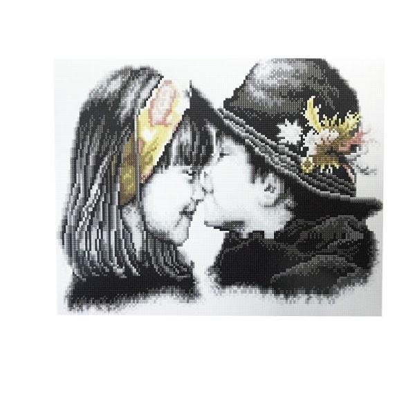 """Алмазная мозаика """"Волшебный поцелуй"""", 40х50 см"""