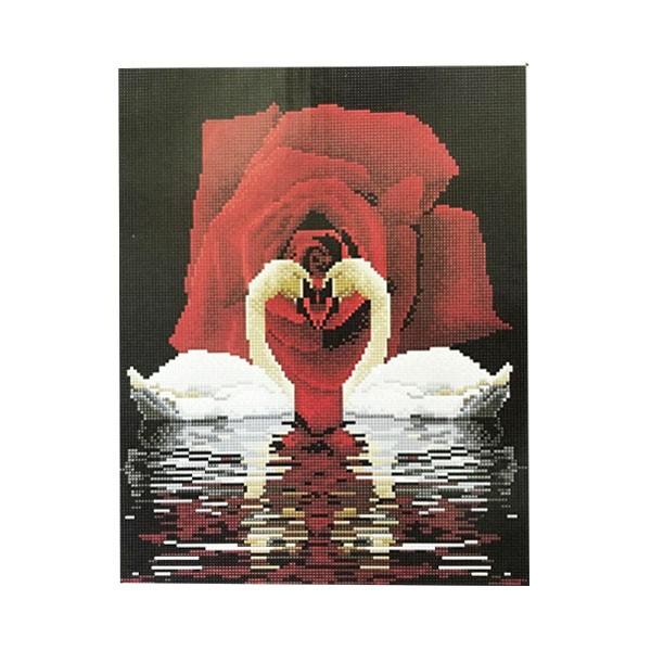 """Алмазная мозаика """"Лебеди"""", 40х50 см"""