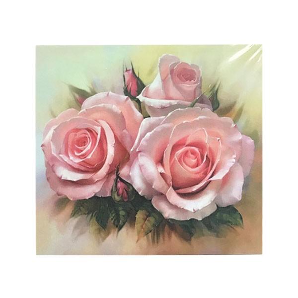 """Алмазная мозаика """"Розы"""", 20х20 см"""