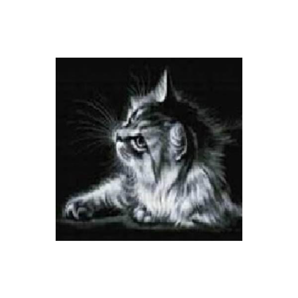 """Алмазная мозаика """"Кошка в черно-белом цвете"""", 40x50 см"""