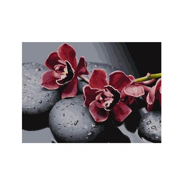 """Алмазная мозаика """"Цветы и камни"""", 40x50 см"""