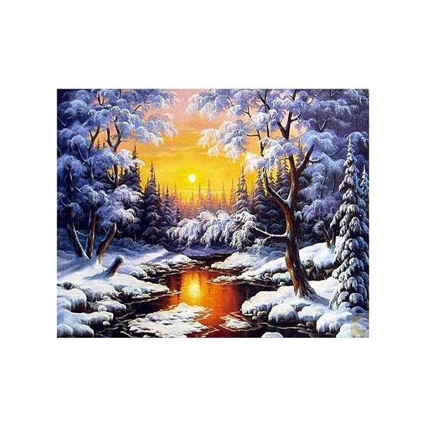 "Алмазная мозаика ""Зимняя красота"", 40x50 см"