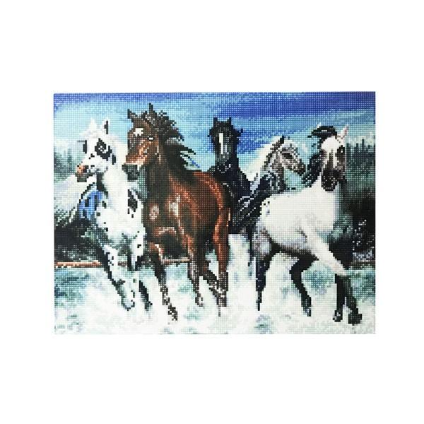 """Алмазная мозаика """"Лошади"""", 40х50 см"""