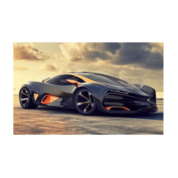 """Картина по номерам """"Черный суперкар"""", GX22428"""