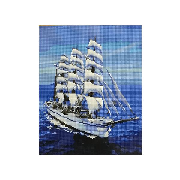 """Алмазная мозаика """"Белоснежный парусник"""", 40x50см."""