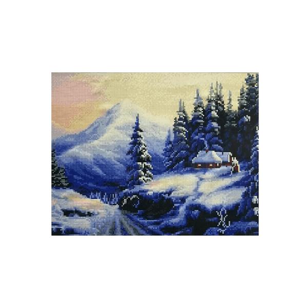 """Алмазная мозаика """"Зимний домик"""", 40x50 см"""