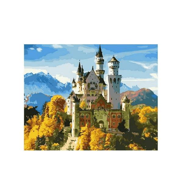 """Картина по номерам """"Замок в золотых горах"""", GX36082"""
