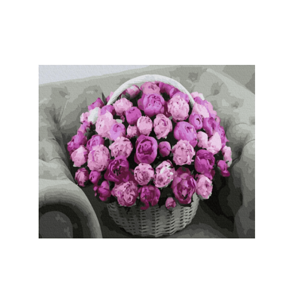 "Картина по номерам ""Букет цветов в корзине"", GX36134"