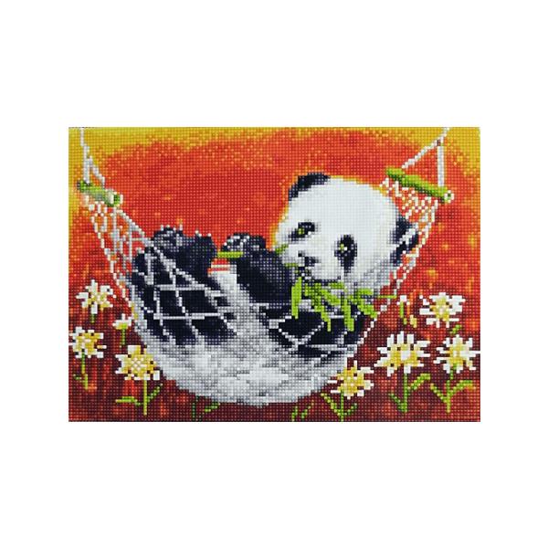"""Алмазная мозаика """"Панда в гамаке"""", 30x40 см"""