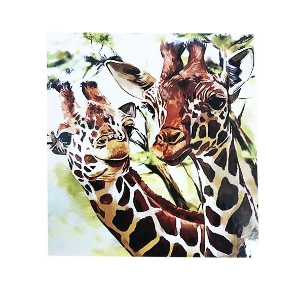 "Алмазная мозаика ""Жирафы"", 40х50 см"