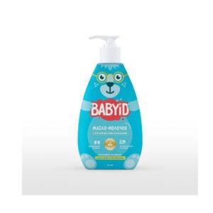 Baby ID Масло-молочко для ванны с маслом оливы, макадамии, кукурузы для детей с рождения