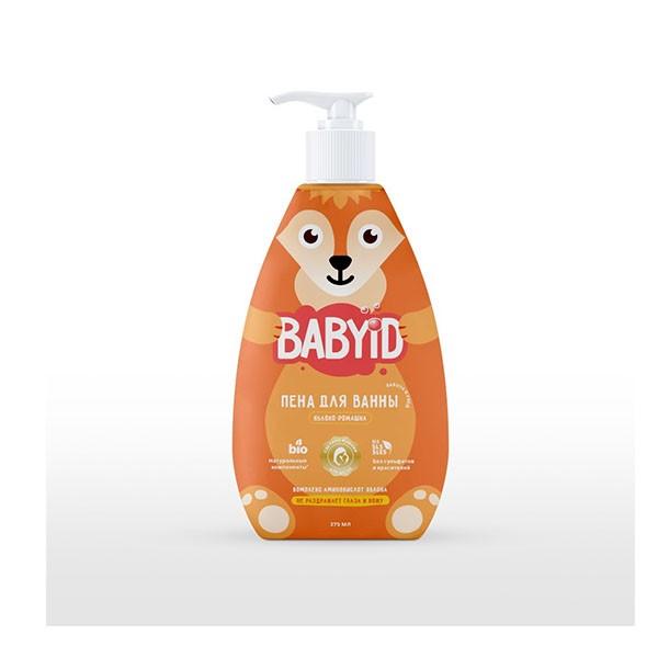 Baby ID Пена для ванны без сульфатов яблоко и ромашка для детей с рождения