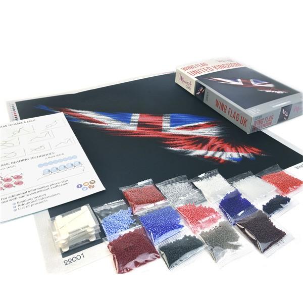 """Набор для вышивания бисером """"Флаг Крыло Великобритании"""", Miniart Crafts"""