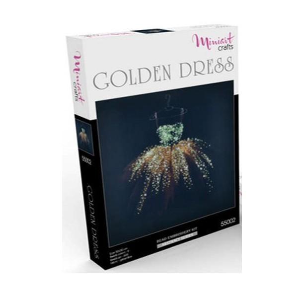 """Набор для вышивания бисером """"Золотое Платье"""", Miniart Crafts"""