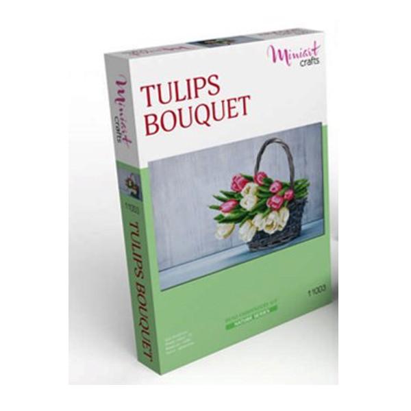 """Набор для вышивания бисером """"Букет тюльпанов"""", Miniart Crafts"""