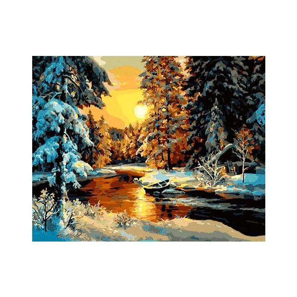 """Картина по номерам """"Зимний лес"""", GX23479"""