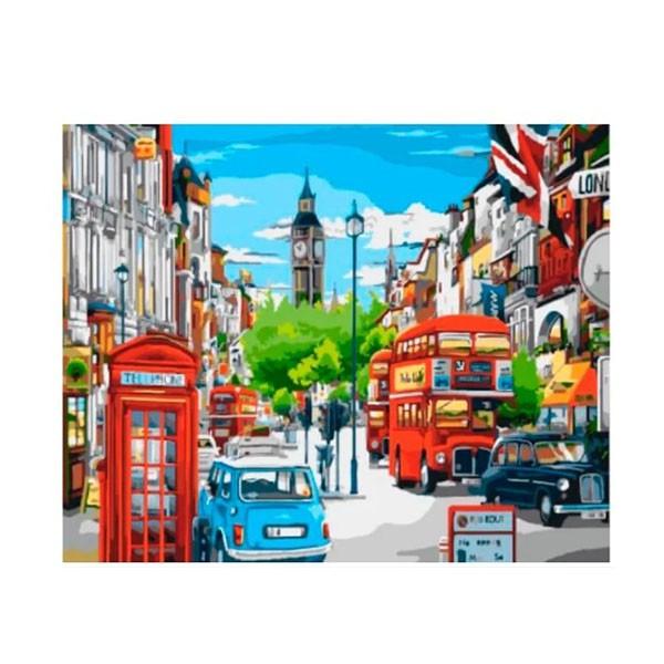 """Картина по номерам """"Лондонская улица в ярких красках"""", GX8969"""