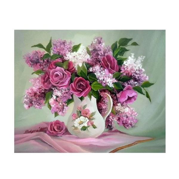 """Картина по номерам """"Сирень и розы"""", GX9460"""
