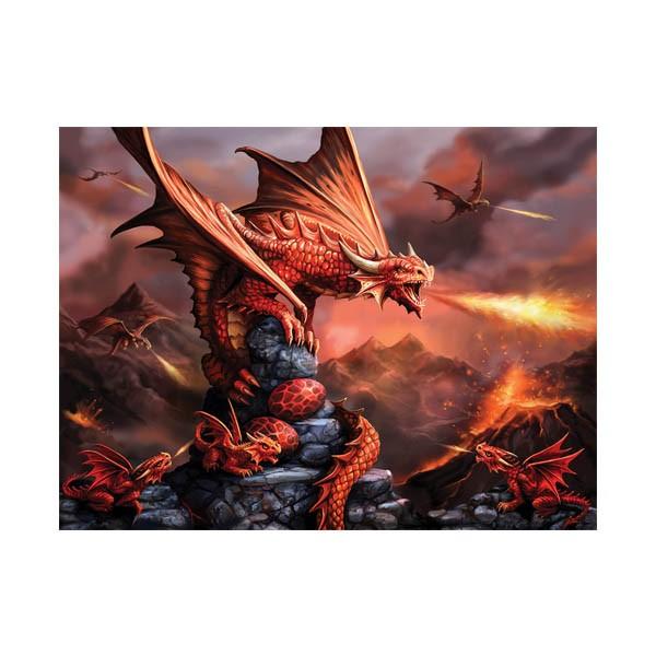 """Пазл с 3D эффектом """"Огненный дракон"""", 500 элементов"""