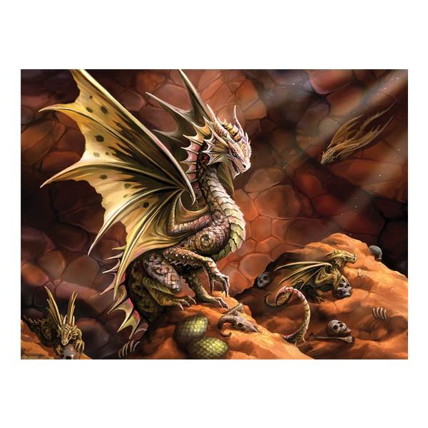 """Пазл с 3D эффектом """" Пустынный дракон"""", 500 элементов"""