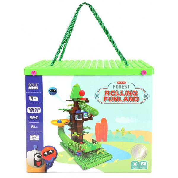 """Конструктор RainBow Rolling Funland """"Лесная Горка с шариками"""", 202401"""