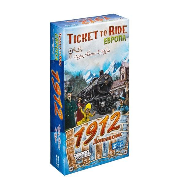 """Настольная игра """"Ticket to Ride. Европа: 1912"""" (Дополнение), Hobby World"""