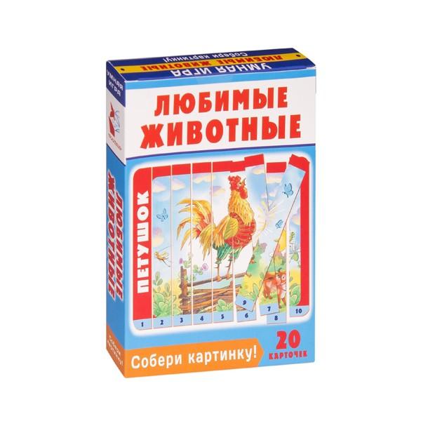 """Умная игра """"Собери картинку! Любимые животные"""", АСТ издательство"""