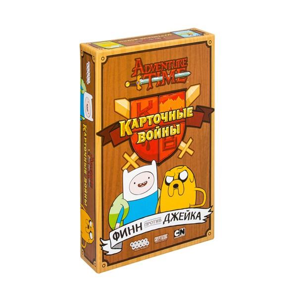 """Настольная игра """"Adventure Time. Карточные войны. Финн против Джейка"""", Hobby World"""