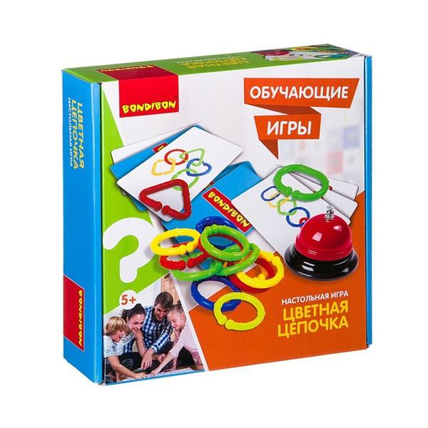 """Обучающая игра """"Цветная цепочка"""", Bondibon"""