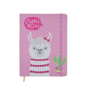 """Блокнот на резинке """"Веселая лама"""" Pink, Malevaro"""