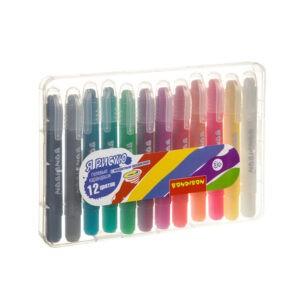 Набор гелевых карандашей для рисования 12 цветов, Bondibon