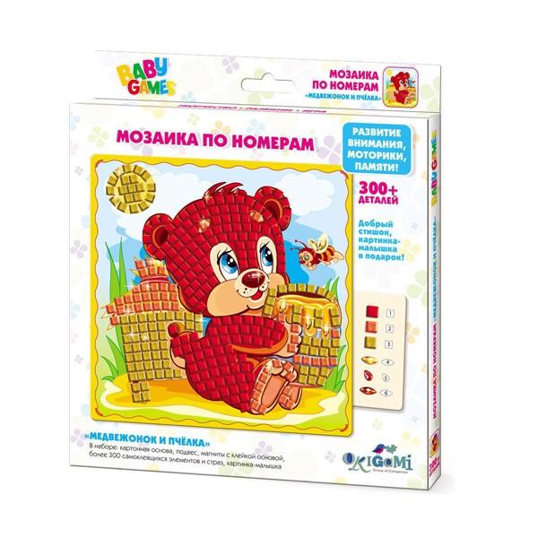 "Мозаика по номерам ""Медвежонок и Пчелка"", Origami"