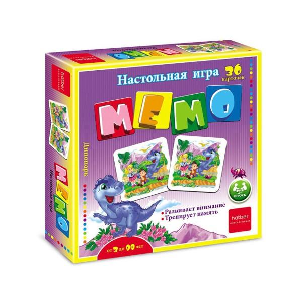"""Настольная игра """"Мемо. Динопарк"""" 36 карточек, Hatber"""