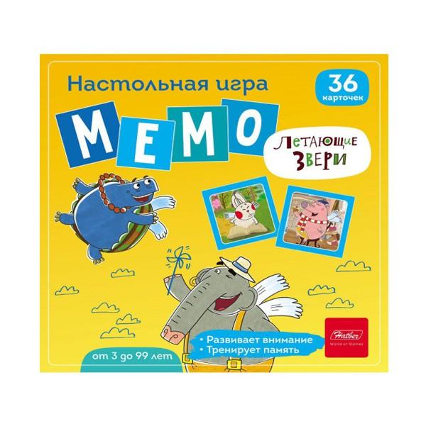 """Настольная игра """"Мемо. Летающие звери"""" 36 карточек, Hatber"""