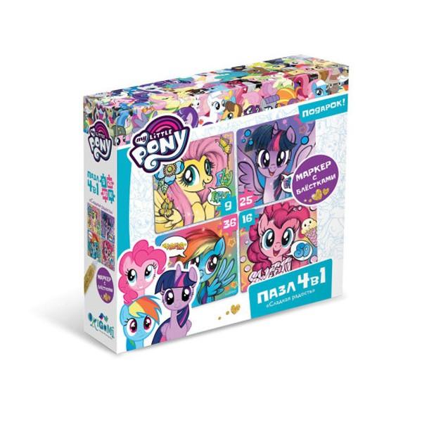 """Пазл 4в1 """"My Little Pony. Сладкая радость"""", Origami"""