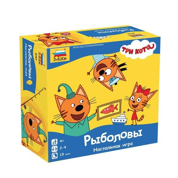 """Настольная игра """"Три кота: Рыболовы"""", Zvezda"""
