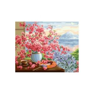Картина по номерам «Букет сакуры», В072