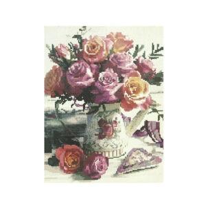 Алмазная мозаика «Букет роз на столе», СК4548
