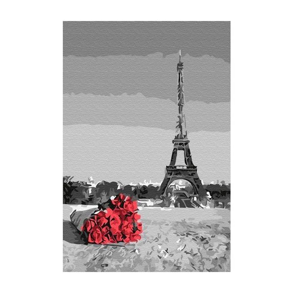 """Картина по номерам """"Букет роз в Париже"""", CX 3822"""
