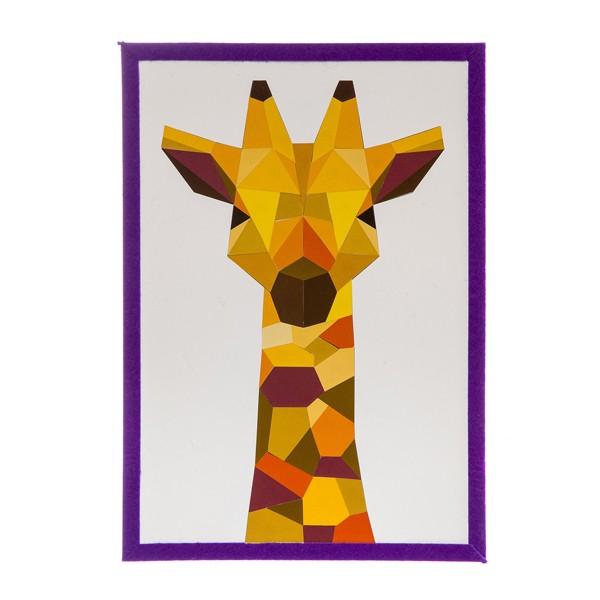 """Набор для творчества """"Геометрическая аппликация. Жираф"""", Bondibon"""