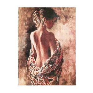 """Алмазная мозаика """"Девушка-загадка"""", CK2806"""