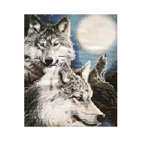 """Алмазная мозаика """"Стая волков"""", CK4969"""